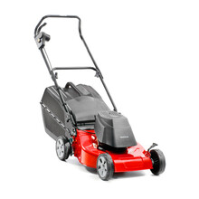 Red Lawn Mower Isolated On Whi...