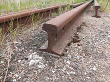 Old Rusty Railroad  Rail On Th...
