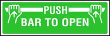 Push Bar To Open Door Opener Sign Green Bar