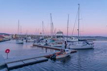 Marina In Port Of Hobart, Australia