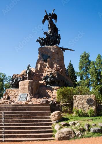 Monument on Cerro de la Gloria, Mendoza Canvas Print