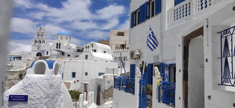 Fototapeta oia village santorini greece