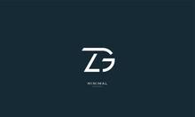 Alphabet Letter Icon Logo ZG
