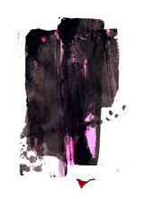Acrylic Black Abstract Strokes