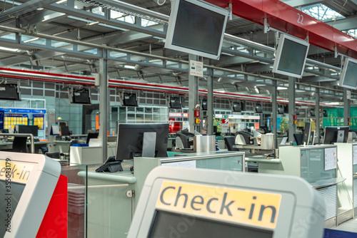 Flughafen, Check-in, Abflug Canvas Print