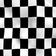 Abstract Checkered Black And W...