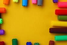 Multi-colored Caps Of Felt-tip...