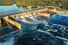 Hydroelectric Dam Or Hydro Pow...