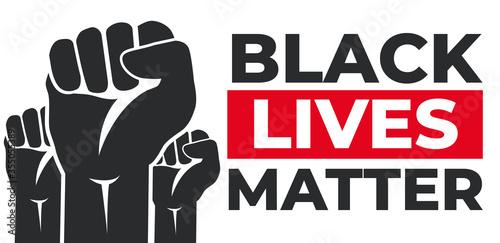 Vászonkép Black Lives Matter. Riot. Vector Illustration
