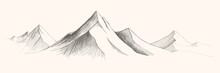 Mountains Ranges. Vector Panor...