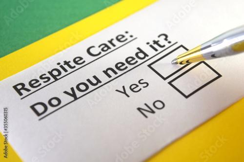 Fotografija Questionnaire about services