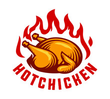 Hot Chicken Fire Label Template