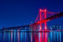 若戸大橋と洞海湾の夜...