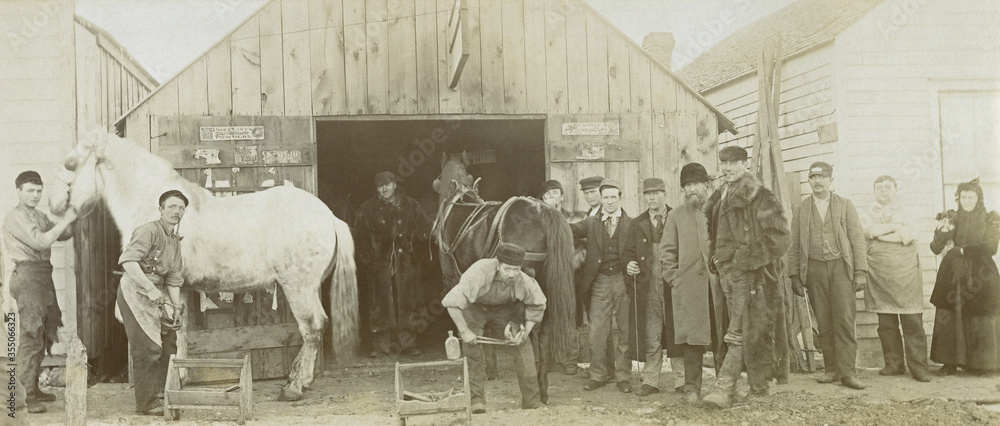 Fototapeta Antique Blacksmith Shop Kansas 1800's Photo