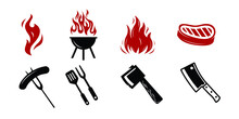 Barbecue Restaurant Set - Logo...