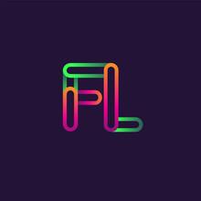 Initial Logo Letter FL, Linked...