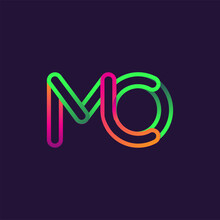 Initial Logo Letter MO, Linked...
