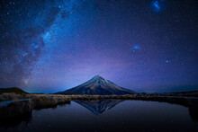 Night Sky Over Mt. Taranaki Re...