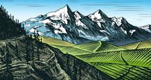 Mountain Landscape Background....