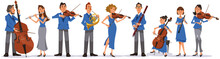 Collection Of Musicians On Whi...
