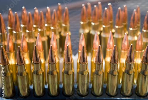 Fotografia Small caliber rifle ammunition.