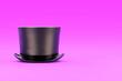 Leinwandbild Motiv Magic Hat Cylinder on violet background. Concept of magic and gentleman fashion accesory. 3D render Illustration