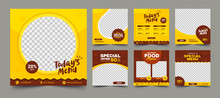 Set Of Editable Square Banners...