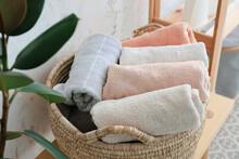 Wicker Basket With Clean Towel...