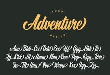 Adventure Script Font Design. ...