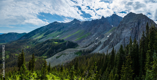 Colorado mountain landscape in the summer