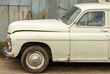Retro Car In Street