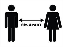 6 Ft. Apart Man Woman Stick Fi...