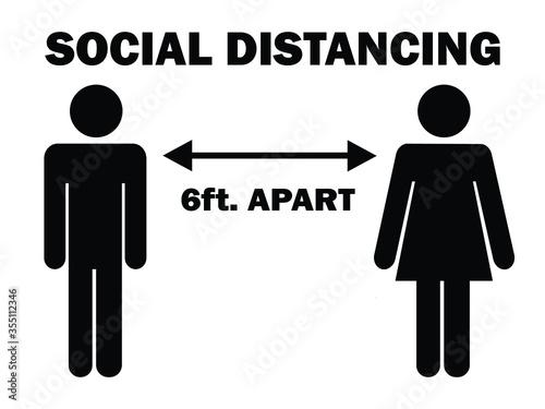 Social Distancing 6 ft Poster Mural XXL