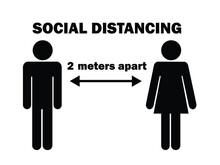 Social Distancing 2 Meters Apa...