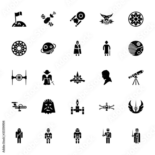 Cuadros en Lienzo Star wars vector pack