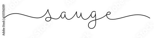 Obraz Calligraphie vecteur noir SAUGE - fototapety do salonu