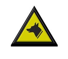 3D - Avvertimento - Iso - Cane