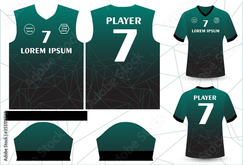 Fotografie, Obraz football jersey sport pattern