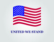 4th of july independence day in USA. United we stand slogan in vector