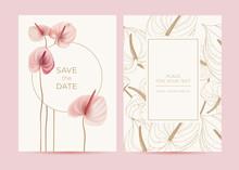 Wedding Invitation In The Bota...