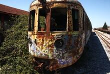 Old Rusty Abandoned Locomotive Train
