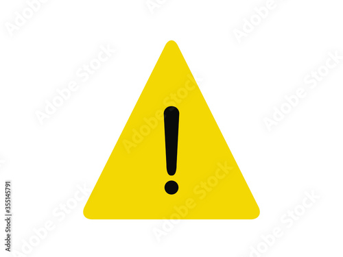 фотографія Alert icon. Yellow triangle alert vector illustration.