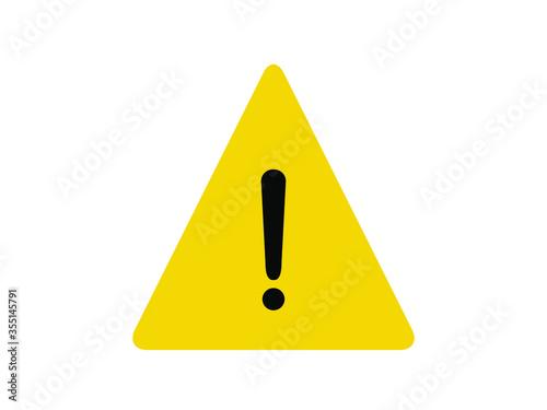 Photo Alert icon. Yellow triangle alert vector illustration.