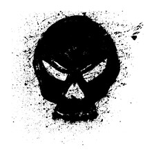 Grunge Skull Paint. Icon With ...