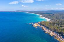 Aerial View Of Coastline Of Ba...