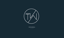Alphabet Letter Icon Logo TW