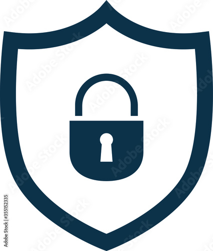 Fototapeta VPN icon safeguarding security line graphic simple no background