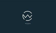 Alphabet Letter Icon Logo CW O...