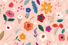 Beautiful Flower Seamless Patt...