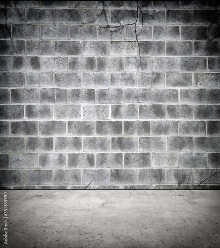Valokuvatapetti Stone wall and floor in creepy atmosphere